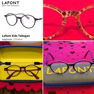 Lafont Kids' Rx eyeglasses purple 44-16-129 EUC